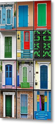 New Orleans Doors Metal Print by Christine Till