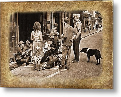 New Orleans Gypsies - Antique Metal Print by Judy Vincent