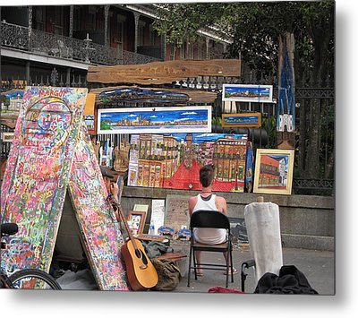 New Orleans - Seen On The Streets - 121249 Metal Print by DC Photographer