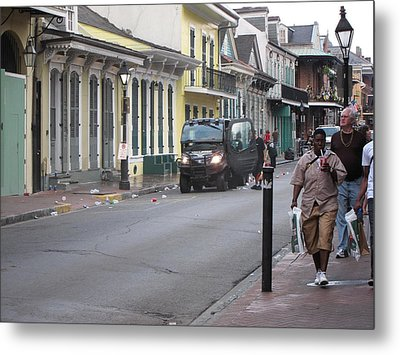 New Orleans - Seen On The Streets - 121252 Metal Print by DC Photographer