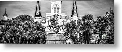 New Orleans St. Louis Cathedral Panorama Photo Metal Print by Paul Velgos