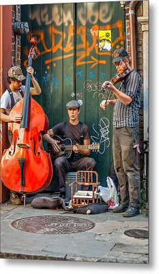 New Orleans Street Musicians Metal Print by Steve Harrington