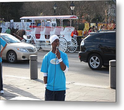 New Orleans - Street Performers - 12128 Metal Print by DC Photographer