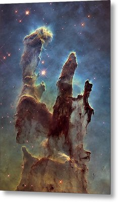 New Pillars Of Creation Hd Tall Metal Print by Adam Romanowicz