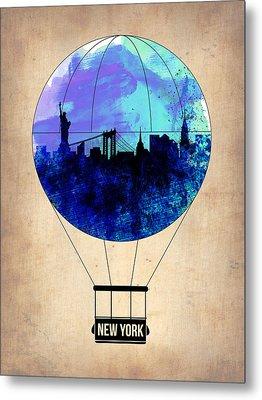 New York Air Balloon 2 Metal Print by Naxart Studio