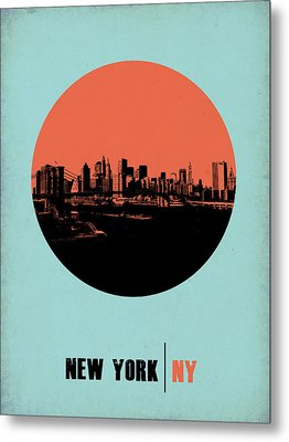 New York Circle Poster 2 Metal Print by Naxart Studio