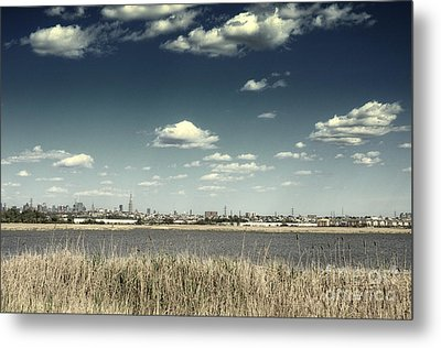 New York City Skyline From New Jersey Metal Print by Sabine Jacobs