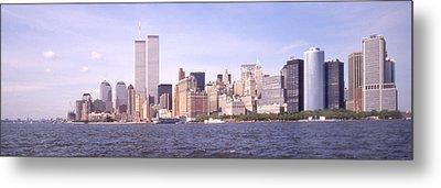 New York City Skyline Panoramic Metal Print by Mike McGlothlen