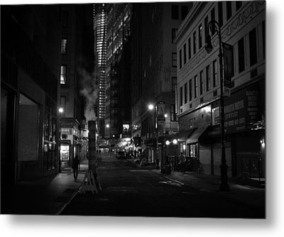 New York City Street - Night Metal Print by Vivienne Gucwa