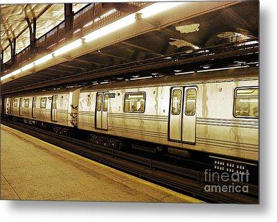 New York City Subway 2 Metal Print by Sarah Loft