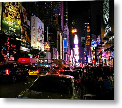 New York City - Times Square 002 Metal Print by Lance Vaughn