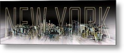 New York Digital-art No.2 Metal Print by Melanie Viola