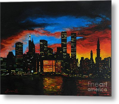 New York In The Glory Days Metal Print by Alexandru Rusu