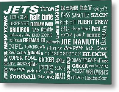 New York Jets Metal Print by Jaime Friedman