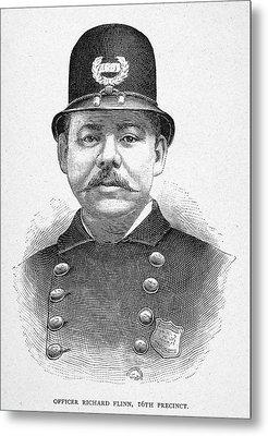 New York Police Officer Metal Print by Granger