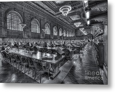 New York Public Library Main Reading Room V Metal Print by Clarence Holmes