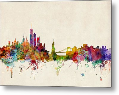 New York Skyline Metal Print by Michael Tompsett