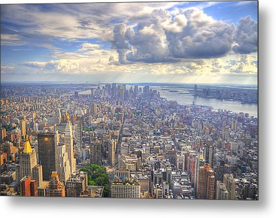 New York State Of Mind Metal Print by Mandy Wiltse