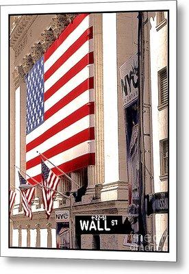 New York Stock Exchange Metal Print by Linda  Parker