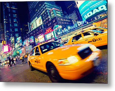 New York - Times Square Metal Print by Alexander Voss