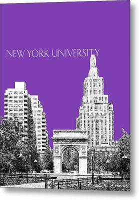New York University - Washington Square Park - Purple Metal Print by DB Artist
