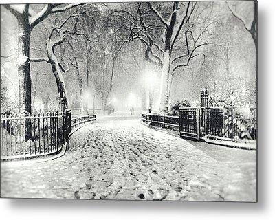 New York Winter Landscape - Madison Square Park Snow Metal Print by Vivienne Gucwa