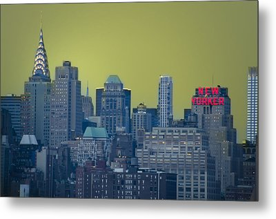New Yorker Metal Print by Bill Cannon