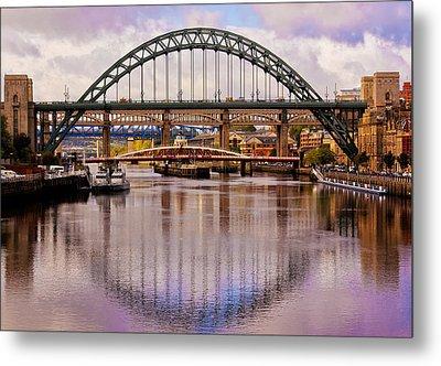 Newcastle Bridges Metal Print by Trevor Kersley