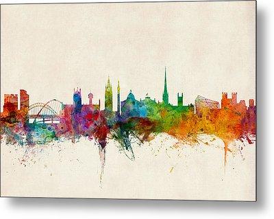Newcastle England Skyline Metal Print by Michael Tompsett