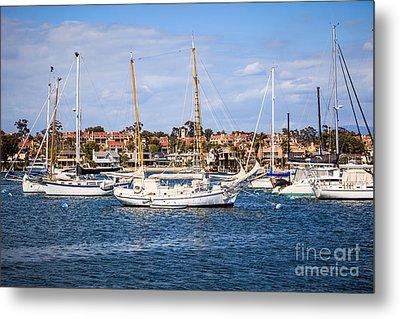 Newport Harbor Boats In Orange County California Metal Print by Paul Velgos