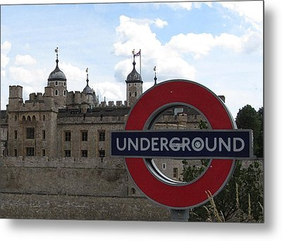 Next Stop Tower Of London Metal Print by Jenny Armitage