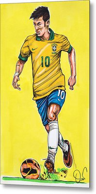 Neymar Metal Print by Dave Olsen