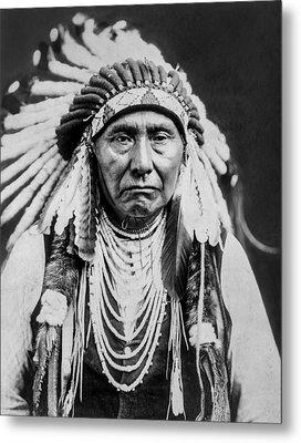 Nez Perce Indian Man Circa 1903 Metal Print by Aged Pixel