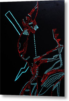 Nhialic - Deity - South Sudan Metal Print by Gloria Ssali