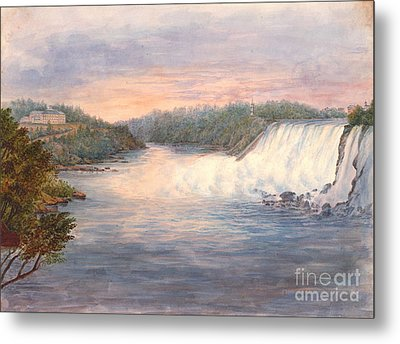 Niagara Falls From Table Rock 1846 Metal Print by Padre Art