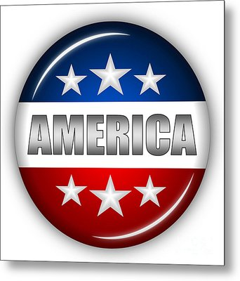 Nice America Shield Metal Print by Pamela Johnson