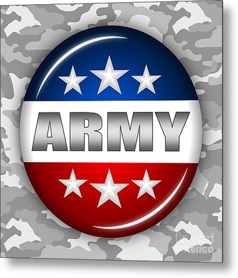 Nice Army Shield 2 Metal Print by Pamela Johnson