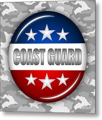 Nice Coast Guard Shield 2 Metal Print by Pamela Johnson