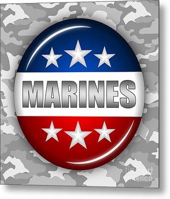 Nice Marines Shield 2 Metal Print by Pamela Johnson