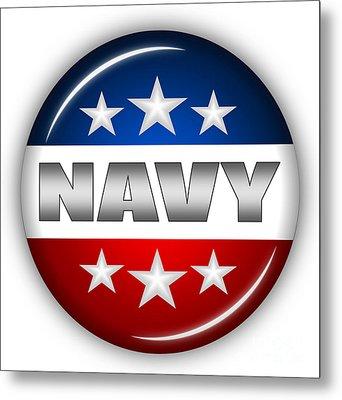 Nice Navy Shield Metal Print by Pamela Johnson