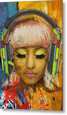 Nicki Minaj Metal Print by Corporate Art Task Force
