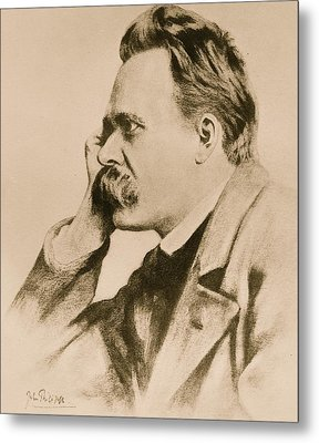 Nietzsche Metal Print by Anonymous