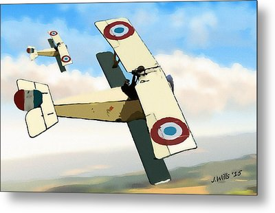 Nieuport 11 Bebe Metal Print by John Wills