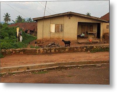 Nigerian House Metal Print by Amy Hosp