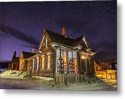 Night At The Cain House Metal Print by Cat Connor