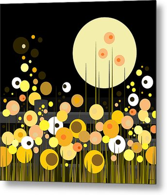 Night Blooming Flowers Metal Print by Val Arie