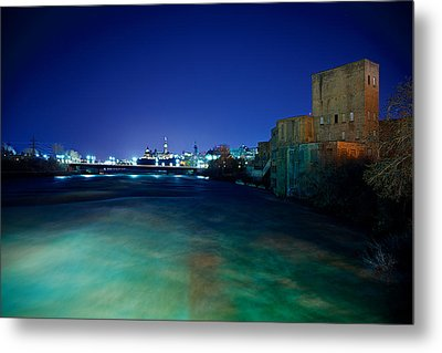 Night Cityscape Metal Print by Andre Faubert