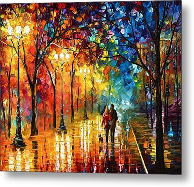 Night Fantasy Metal Print by Leonid Afremov
