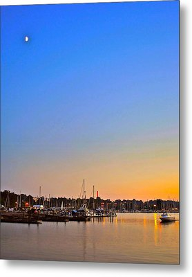 Night Fishing Metal Print by Frozen in Time Fine Art Photography