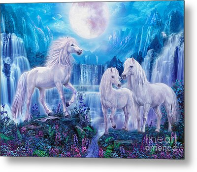 Night Horses Metal Print by Jan Patrik Krasny
